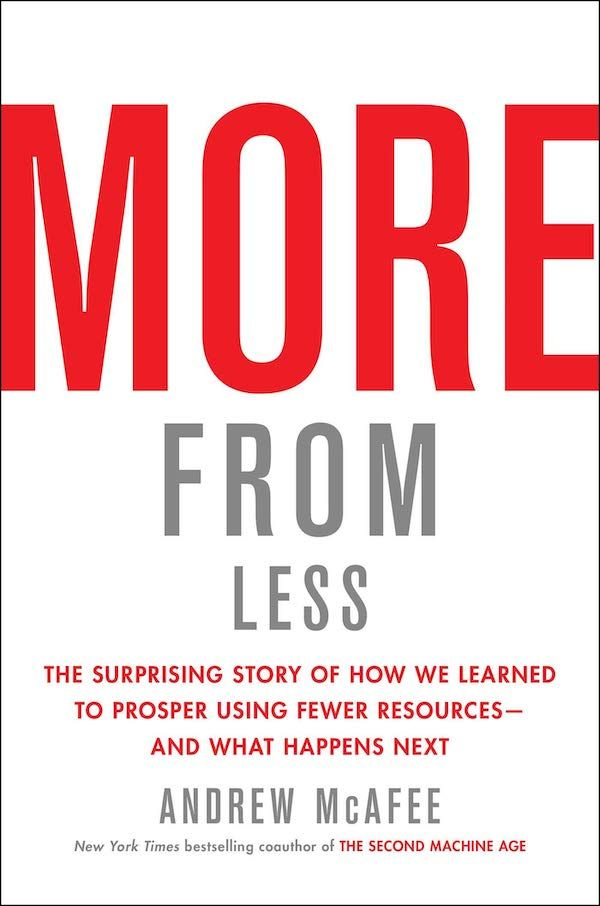 More from Less: The Surprising Story of How We Learned to Prosper Using Fewer Resources — and What Happens Next